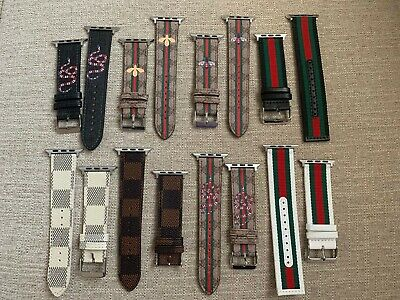 Gucci Colors Print Leather Luxury Apple Watch Band 38/40/42/44mm 1/2/3/4