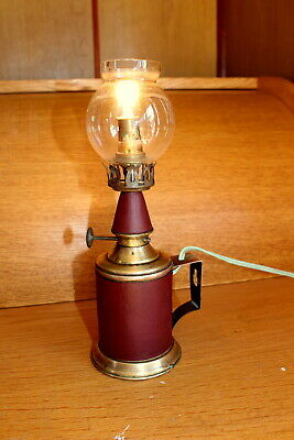 Electric Antique French Vintage Brass Pigeon Oil Lamp Light Complete  Working