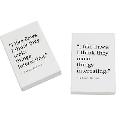 2 x 45mm Life Quote By Sarah Dessen Erasers / Rubbers (ER00001174)