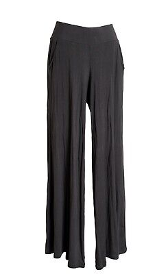 Cabi Womens Black Pull On Elastic Waist Wide Leg Stretch Palazzo Pants 880 Small