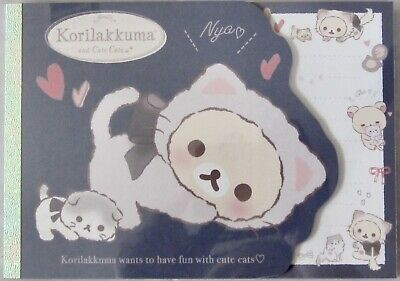 San-X Korilakkuma and Cute Cats (Rilakkuma) Memo Pad (33201)~KAWAII!!