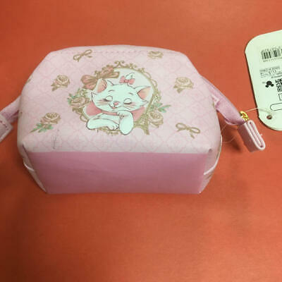 Disney Store Aristocats Marie Accessories Pouch Pink Tissue Case Ribbon Mini Bag