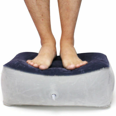 Inflatable Foot Rest Pillow Cushion Travel Room Relax Reduce DVT Risk on Flight