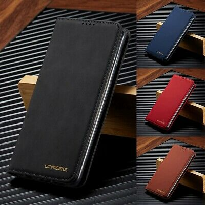 Samsung Galaxy S10 S9 S8 Note10 Plus Luxury Slim Magnetic Flip Wallet Case Cover