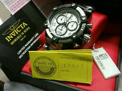 Invicta 48mm LIMITED EDITION JT Chronograph Stainless Steel Bracelet New