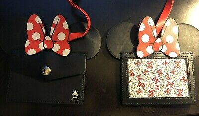 Disney Park Authentic  Lanyard ID Holder Minnie Mouse