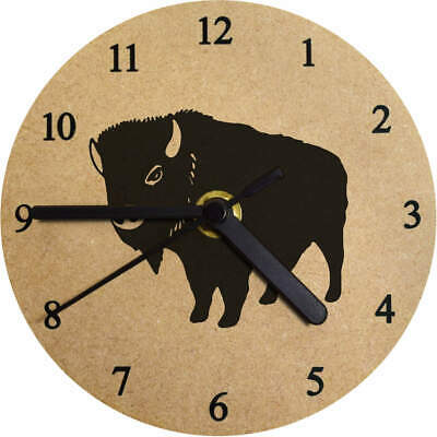 'Bison' Printed Wooden Wall Clock (CK021624)