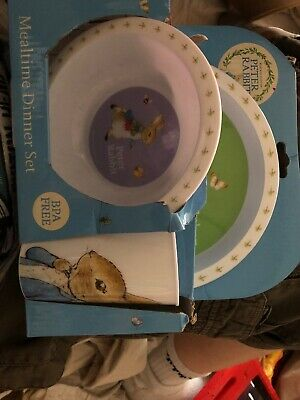 Peter Rabbit Mealtime Dinner Set Freepost Lor