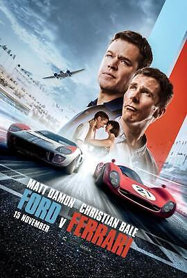 Ford v. Ferrari Movie Damon Bale 2019 New Film 32x48 27x40 24x36 Poster 1213