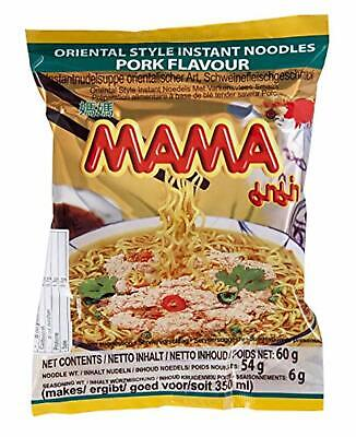 Mama Oriental Instant Noodles Pork Flavour - 30 Packets x 55g Product of Thai...