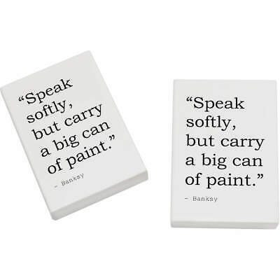 2 x 45mm Quote By Banksy Erasers / Rubbers (ER00019979)