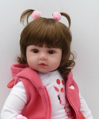 Newborn Doll Real Lifelike Silicone Reborn Baby Dolls Toddler Girl Xmas Gift UK