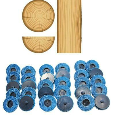 31pcs 50mm 2'' Flap Sanding Discs Roller Grit Lock Abrasive Grinding Wheels Set