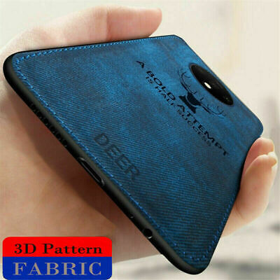 For OnePlus 7T Pro 7 Pro 6 6T Luxury Fabric Hybrid Soft TPU Leather Cover Case