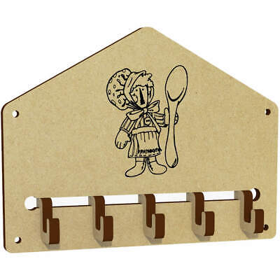'Spoon Doll' Wall Mounted Key Hooks / Holder (WH00030813)