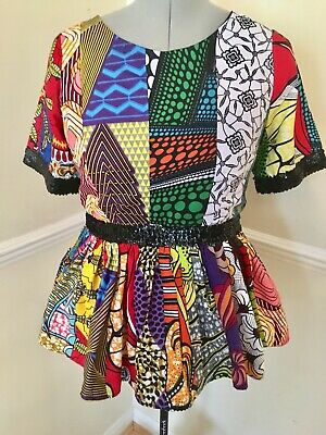 Ladies African tops/Custom Made African Wax Print to fit UK Size 14