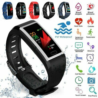 Smart Watch Fitness Tracker Running Pedometer Heart Rate Sport Blood Pressure UK