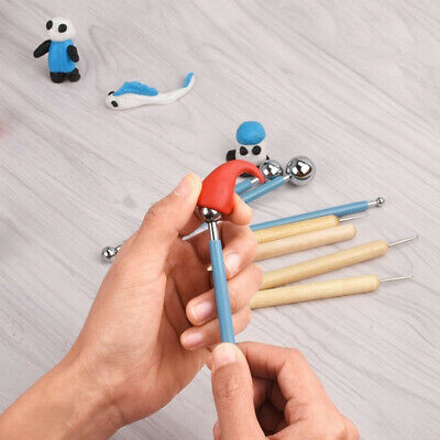 10pcs DIY Pen Rubber Ball Styluses Dotting Tools Rock Painting Pottery Clay