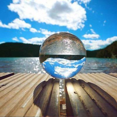 80mm Clear Glass Crystal Ball Photography Lens Sphere Magic Meditate Home Mascot