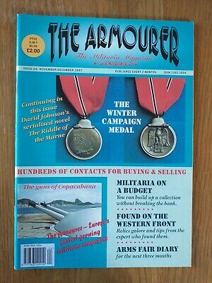 The Armourer Militaria magazine Issue 24 Ost Front Medal WW2 German belts