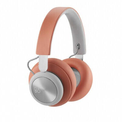Bang and Olufsen B&O H4 Over Ear Headphones Bluetooth Tangerine Grey