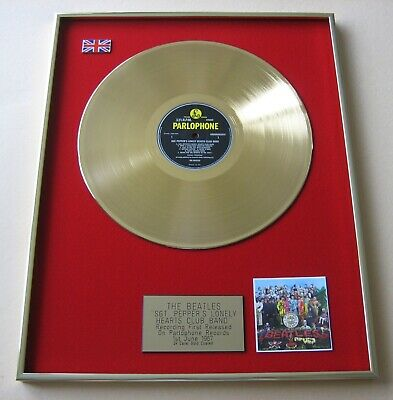BEATLES Sgt Peppers Lonely Hearts Club Band GOLD PRESENTATION DISC