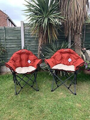 Quest Elite Autograph Dorset Folding Camping Chair in Paprika and Cream