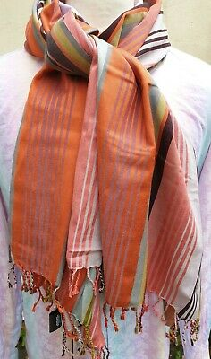 PAUL SMITH TWO STRIPE SCARF CASHMERE MIX MADE IN ENGLAND Was £75.00