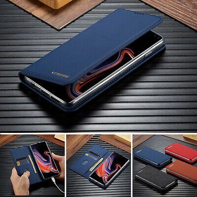 For Samsung Note10 Plus S9 S8 S10e Case Magnetic Leather Card Wallet Stand Cover