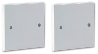 2 x White Single Blanking Plate 1G 1 Gang Light Switch Plug Wall Socket Cover