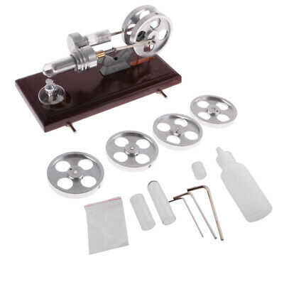 Single/Double Cylinder Stirling Engine Toy Steam Heat Power Model Physical Kits