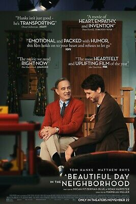 A Beautiful Day in the Neighborhood (2019) Tom Hanks Mr.Rogers Movie Poster NEW
