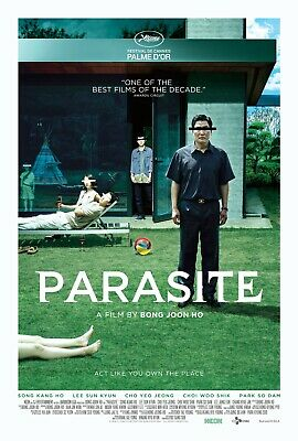 Parasite (2019) Bong Joon Ho, Kang-ho Song, Yeo-jeong Jo Satirical Movie Poster