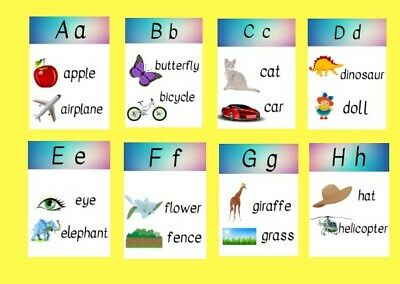 ALPHABET FLASHCARDS WITH Pictures Set & Free Alphabet Letter