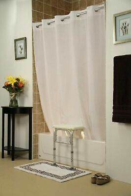 Simplicity Transfer Bench Shower Curtain(Color=White)