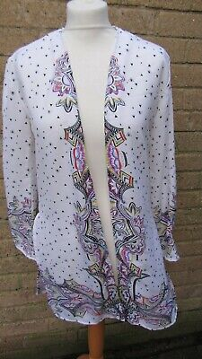 River Island 11-12 Years Girls White & Multi-Coloured Patterned Jacket