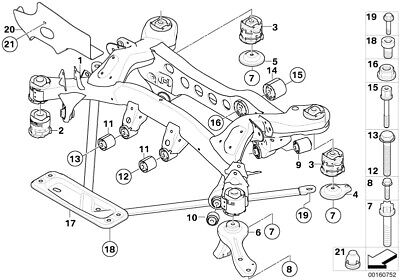 BMW Genuine Rear Axle Replacement Carrier Stopper For 1 3 X1 Series 33306778328