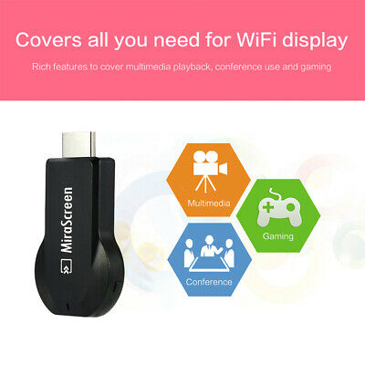 MiraScreen Miracast Wifi Display Dongle Receiver 1080P Wireles AirPlay DLNA I9W1