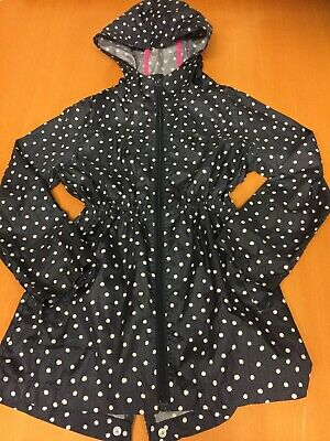 Girls Lightweight Blue Spotty Coat From Yd Age 9-10 Years