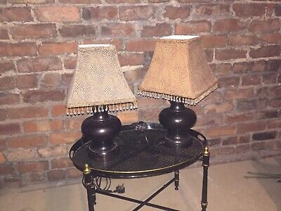 Vintage Pair Of Bronze Style Table Lamps