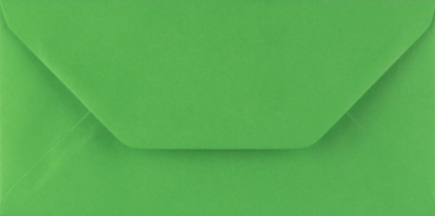 DL FERN GREEN Coloured Envelopes Greeting Card Party Invitations Craft 110x220mm
