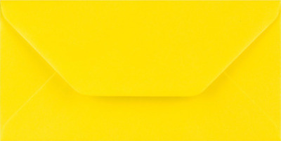 DL YELLOW Coloured Envelopes Greeting Card Party Invitations Crafts 110x220mm