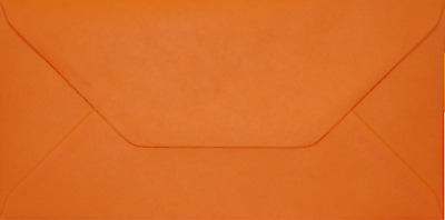 DL ORANGE Coloured Envelopes Greeting Card Party Invitations Crafts 110x220mm