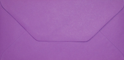 DL PURPLE Coloured Envelopes Greeting Card Party Invitations Crafts 110x220mm