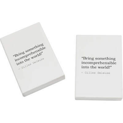 2 x 45mm Art Quote By Gilles Deleuze Erasers / Rubbers (ER00017463)