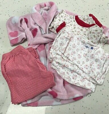 Girls Mixed Lot/Bundle Nightwear and Dressing Gown - Age 2-4 - Jasper Conran/M&S