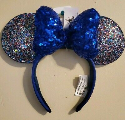 Disney Parks 2020 Minnie Mickey Mouse Happy New Year Ear Headband New With Tags