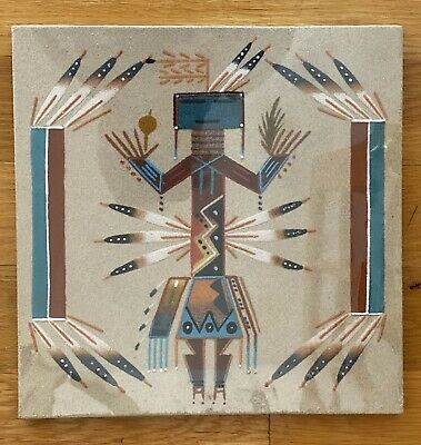 Indian  Navajo Native American Sand Painting Art Health