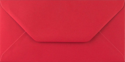 DL SCARLET RED Coloured Envelopes Greeting Card Party Invitations Crafts