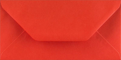 DL POPPY RED Coloured Envelopes Greeting Card Party Invitations Craft 110x220mm